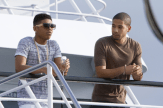 EMPIRE: Brothers Jamal (Jussie Smollett, R) and Hakeem (Bryshere Gray, L) share a moment in the premiere episode of EMPIRE airing Wednesday, Jan. 7 (9:00-10:00 PM ET/PT) on FOX. ©2014 Fox Broadcasting Co. CR: Chuck Hodes/FOX