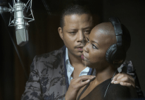 EMPIRE: Lucious Lyon (Terrence Howard, L) encourages one of his musical acts (guest star Veronika Bozemanl, R) in the premiere episode of EMPIRE airing Wednesday, Jan. 7 (9:00-10:00 PM ET/PT) on FOX. ©2014 Fox Broadcasting Co. CR: Chuck Hodes/FOX