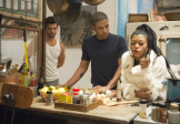 EMPIRE: Cookie Lyon (Taraji P. Henson, R) visits her son Jamal (Jussie Smollett, C) and his partner Mike (guest star NAME, L) In the premiere episode of EMPIRE airing Wednesday, Jan. 7 (9:00-10:00 PM ET/PT) on FOX. ©2014 Fox Broadcasting Co. CR: Chuck Hodes/FOX