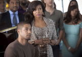 EMPIRE: Cookie Lyon (Taraji P. Henson, R) and her son Jamal (Jussie Smollett, L) attend a party in the premiere episode of EMPIRE airing Wednesday, Jan. 7 (9:00-10:00 PM ET/PT) on FOX. ©2014 Fox Broadcasting Co. CR: Chuck Hodes/FOX