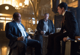 "GOTHAM: Sal Maroni (guest star David Zayas, L) questions Oswald Cobblepot (Robin Lord Taylor, R) about his suspicious behavior in the ""What The Little Bird Told Him"" episode of GOTHAM airing Monday, Jan. 19 (8:00-9:00 PM ET/PT) on FOX. ©2014 Fox Broadcasting Co. Cr: Jessica Miglio/FOX"
