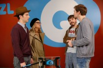 """PARKS AND RECREATION -- """"GryzzlBox"""" Episode 706 -- Pictured: (l-r) Adam Scott as Ben Wyatt, Amy Poehler as Leslie Knope, Jorma Taccone as Roscoe -- (Photo by: Greg Gayne/NBC)"""