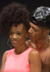 "EMPIRE: Hakeem (Bryshere Gray, R) and Tiana (guest star Serayah McNeil, L) share a moment in the ""Dangerous Bonds"" episode of EMPIRE airing Wednesday, Feb. 4 (9:00-10:00 PM ET/PT) on FOX. ©2014 Fox Broadcasting Co. CR: Chuck Hodes/FOX"