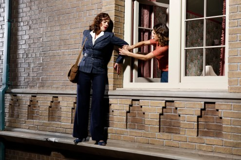 """MARVEL'S AGENT CARTER - """"A Sin to Err"""" - Peggy discovers the shocking truth about Leviathan but doesn't realize that her true enemies are even closer than she imagined. Meanwhile, Souza is close to confirming the truth about Peggy and may just put her in the crosshairs of the SSR, on """"Marvel's Agent Carter,"""" TUESDAY, FEBRUARY 10 (9:00-10:00 p.m., ET) on the ABC Television Network. (ABC/Adam Rose) HAYLEY ATWELL, LYNDSY FONSECA"""
