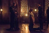 """Arrow -- """"Nanda Parbat"""" -- Image AR315B_0129b -- Pictured (L-R): Matt Nable as Ra's al Ghul and Stephen Amell as Oliver Queen -- Photo: Cate Cameron/The CW -- © 2015 The CW Network, LLC. All Rights Reserved."""