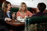 """PARKS AND RECREATION -- """"Donna and Joe"""" Episode 703 -- Pictured: (l-r) Kathryn Hahn as Jennifer Barkley, Amy Poehler as Leslie Knope -- (Photo by: Tyler Golden/NBC)"""