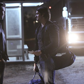 """The Vampire Diaries -- """"Stay"""" -- Image Number: VD114a_0159.jpg -- Pictured (L-R): Matt Davis as Alaric and Steven R. McQueen as Jeremy -- Photo: Annette Brown/The CW -- �© 2015 The CW Network, LLC. All rights reserved."""