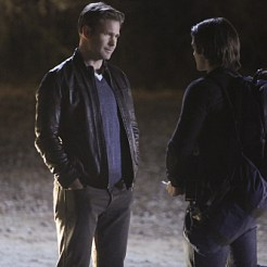 """The Vampire Diaries -- """"Stay"""" -- Image Number: VD114a_0184.jpg -- Pictured (L-R): Matt Davis as Alaric and Steven R. McQueen as Jeremy -- Photo: Annette Brown/The CW -- �© 2015 The CW Network, LLC. All rights reserved."""