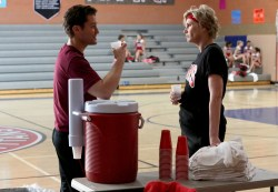 "GLEE: L-R: Will (Matthew Morrison) and Sue (Jane Lynch) chat in the special two-hour ""2009/Dreams Come True"" Series Finale episode of GLEE airing Friday, March 20 (8:00-10:00 PM ET/PT) on FOX. ©2015 Fox Broadcasting Co. CR: Mike Yarish/FOX"