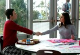 """GLEE: L-R: Kurt (Chris Colfer) and Rachel (Lea Michele) make a pact in a flashback to 2009 in the special two-hour """"2009/Dreams Come True"""" Series Finale episode of GLEE airing Friday, March 20 (8:00-10:00 PM ET/PT) on FOX. ©2015 Fox Broadcasting Co. CR: Mike Yarish/FOX"""