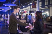 """The Flash -- """"Out of Time"""" -- Image FLA115A_0212b -- Pictured (L-R): Grant Gustin as Barry Allen and Malese Jow as Linda Park -- Photo: Diyah Pera/The CW -- © 2015 The CW Network, LLC. All rights reserved."""