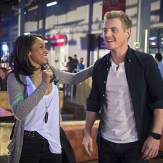 """The Flash -- """"Out of Time"""" -- Image FLA115A_0210b -- Pictured (L-R): Candice Patton as Iris West and Rick Cosnett as Detective Eddie Thawne -- Photo: Diyah Pera/The CW -- �© 2015 The CW Network, LLC. All rights reserved."""