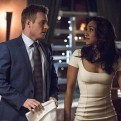 """The Flash -- """"All Star Team Up"""" -- Image FLA118A_0276b -- Pictured (L-R): Rick Cosnett as Detective Eddie Thawne and Candice Patton as Iris West -- Photo: Cate Cameron/The CW -- �© 2015 The CW Network, LLC. All rights reserved."""