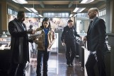 "The Flash -- ""Who is Harrison Wells?"" -- Image FLA119B_0190b -- Pictured (L-R): Jesse L. Martin as Detective Joe West, Carlos Valdes as Cisco Ramon, and Paul Blackthorne as Quentin Lance -- Photo: Katie Yu /The CW -- © 2015 The CW Network, LLC. All rights reserved."