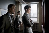 """The Flash -- """"Who is Harrison Wells?"""" -- Image FLA119A_0088b -- Pictured (L-R): Rick Cosnett as Detective Eddie Thawne and Grant Gustin as Barry Allen -- Photo: Katie Yu /The CW -- �© 2015 The CW Network, LLC. All rights reserved."""
