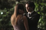 "The Vampire Diaries -- ""I'm Thinking of You All The While"" -- Image Number: VD622c_0192.jpg -- Pictured (L-R): Nina Dobrev as Elena (back to camera) and Ian Somerhalder as Damon -- Photo: Annette Brown/The CW -- �© 2015 The CW Network, LLC. All rights reserved."