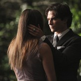 """The Vampire Diaries -- """"I'm Thinking of You All The While"""" -- Image Number: VD622c_0192.jpg -- Pictured (L-R): Nina Dobrev as Elena (back to camera) and Ian Somerhalder as Damon -- Photo: Annette Brown/The CW -- �© 2015 The CW Network, LLC. All rights reserved."""