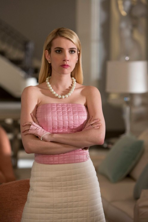 SCREAM QUEENS: Emma Roberts as Chanel Oberlin on SCREAM QUEENS premiering September 2015 on FOX. ©2015 Fox Broadcasting Co. CR: Steve Dietl/FOX