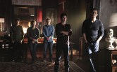 "The Vampire Diaries -- ""I'm Thinking of You All The While"" -- Image Number: VD622b_0189.jpg -- Pictured (L-R): Michael Trevino as Tyler, Matt Davis as Alaric, Zach Roerig as Matt, Ian Somerhalder as Damon and Paul Wesley as Stefan -- Photo: Annette Brown/The CW -- © 2015 The CW Network, LLC. All rights reserved."