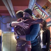 """The Flash -- """"Fast Enough"""" -- Image FLA123A_0106b -- Pictured (L-R): Grant Gustin as Barry Allen, Jesse L. Martin as Detective Joe West and Candice Patton as Iris West -- Photo: Diyah Pera/The CW -- �© 2015 The CW Network, LLC. All rights reserved."""