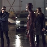 "The Flash -- ""Rogue Air"" -- Image FLA122A_0057b -- Pictured (L-R): Wentworth Miller as Leonard Snart / Captain Cold, Grant Gustin as Barry Allen / The Flash and Danielle Panabaker as Caitlin Snow -- Photo: Dean Buscher/The CW -- �© 2015 The CW Network, LLC. All rights reserved."