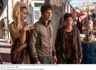 MAZE RUNNER: THE SCORCH TRIALS Thomas (Dylan O'Brien, center) surveys his new environment, along with Ponytail (Jenny Gabrielle) and Brenda (Rosa Salazar). Photo credit: Richard Foreman, Jr. SMPSP TM and © 2015 Twentieth Century Fox Film Corporation. All Rights Reserved. Not for sale or duplication.