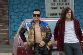 Rose (John Leguizamo, left) and Mike Howell (Jesse Eisenberg, right) in AMERICAN ULTRA. Photo Credit: Alan Markfield.