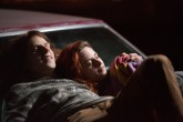 Mike Howell (Jesse Eisenberg) and Phoebe Larson (Kristen Stewart) in AMERICAN ULTRA. Photo Credit: Alan Markfield.