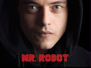 Mr. Robot LOGO ART. Courtesy of NBCUniversal/USA Network.