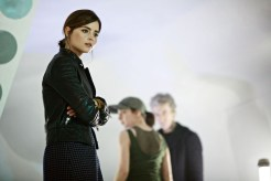 Picture shows: Jenna Coleman as Clara, Morven Christie as O'Donnell and Peter Capaldi as the Doctor