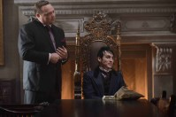 "GOTHAM: (L-R) Butch Gilzean (Drew Powell) and Penguin (Robin Lord Taylor) in the ""Damned if you Do,… "" Season Two premiere of GOTHAM airing Monday, Sept. 21 (8:00-9:00 PM ET/PT) on FOX. ©2015 Fox Broadcasting Co. Cr: Nicole Rivelli/FOX"