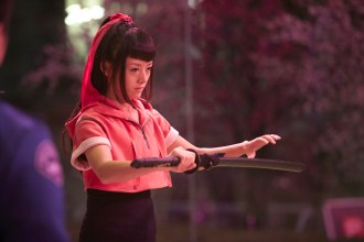 "HEROES REBORN -- ""Under the Mask"" Episode 103 -- Pictured: Kiki Sukezane as Miko Otomo"
