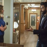 """iZombie -- """"Real Dead Housewife of Seattle"""" -- Image Number: ZMB_203a_3864.jpg -- Pictured (L-R): Aly Michalka as Peyton Charles and Rahul Kohli as Dr. Ravi Chakrabarti -- Photo: Jack Rowand /The CW -- �© 2015 The CW Network, LLC."""