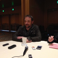 Supernatural Cast Interview at SDCC 2015 with Mark Sheppard; Photo Credit: We So Nerdy