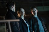 "MINORITY REPORT: MINORITY REPORT: L-R: Nick Zano, Laura Regan and Stark Sands in the all-new ""Everybody Runs"" season finale episode of MINORITY REPORT airing Monday, Nov. 30 (9:00-10:00 PM ET/PT) on FOX. Cr: Katie Yu / FOX. © 2015 FOX Broadcasting Co."