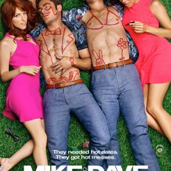 "Film poster from the new upcoming comedy from 20th Century Fox ""Mike and Dave Need Wedding Dates"" starring Zac Efron, Adam Devine, Anna Kendrick, and Aubrey Plaza. Source: twitter.com/mikeanddave"