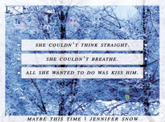 SPOTLIGHT: 'Maybe This Time' by Jennifer Snow