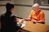 TRIAL & ERROR -- Pilot -- Pictured: (l-r) Nicholas D'Agosto as Josh, John Lithgow as Larry -- (Photo by: Tyler Golden/NBC)