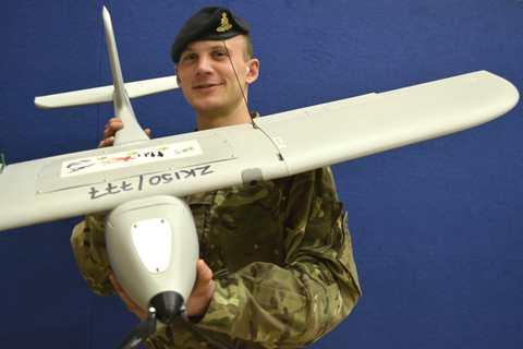 Lance Bombardier Kev Gunner with a Desert Hawk 3