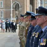 Outside Bristol's City Hall on day of Armed Forces Community Covenant signing.