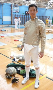 Corporal Seng Boon Chan claims rare team victory in the national Inter-Services Fencing Championships at RAF Cosford. Picture: Fortuis Media