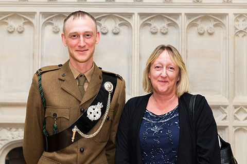 Award for inspirational leader of Taunton Army Cadets |