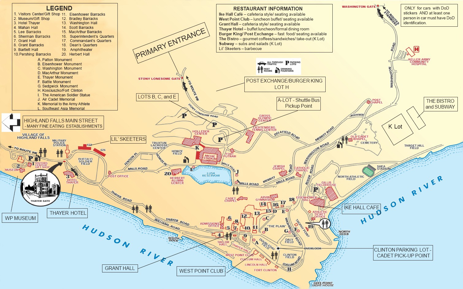 West Point Map Campus