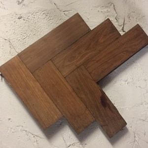 Reaclaimed Mahogany Block Flooring