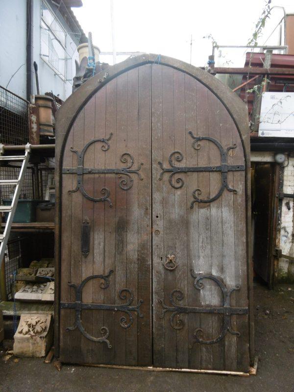 Circa 1870 Reclaimed Oak Church Doors
