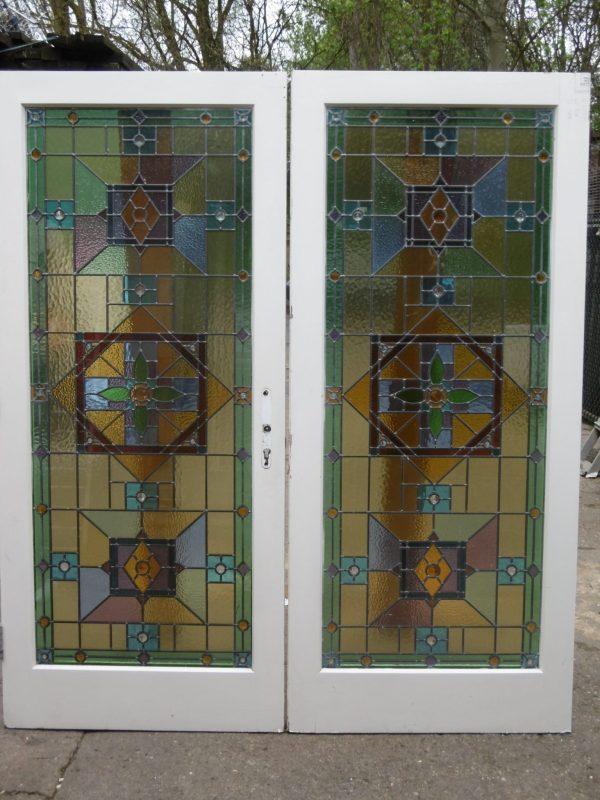 Colored Glass Door