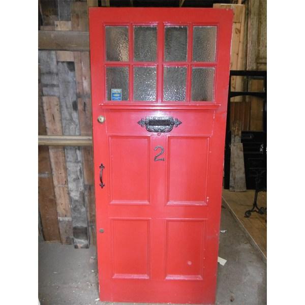 Red External Reclaimed Door