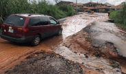 Death trap road that leads to Anambra state govt house
