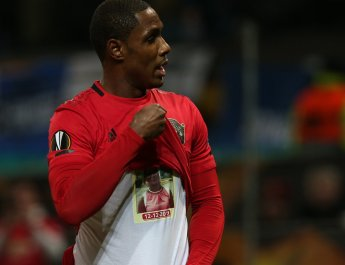 Ighalo celebrates wife as he scores for Manchester United