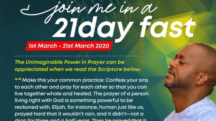 Amidst alleged crisis in Kogi govt house, Edward Onoja calls for 21 days prayers, fasting